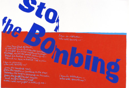 Syster Corita Kent, stop the bombing, 1967