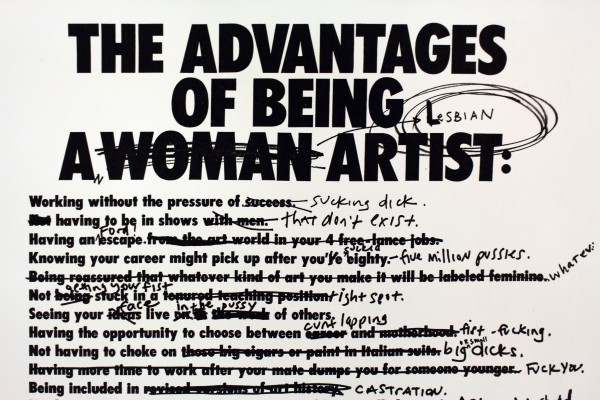 From LTTR No.5: The Advantages of Being a Lesbian Woman Artist by Ridykeulous