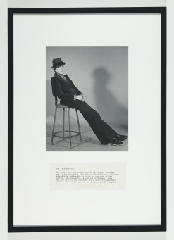 Martha Wilson, A Portfolio of Models, The Professional, en serie av sex fotografier och text, 1972/2012