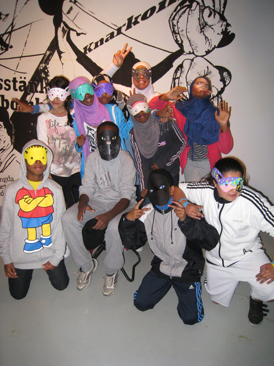 Gallery Club, Mask Making Workshop, Tensta konsthall, 2011
